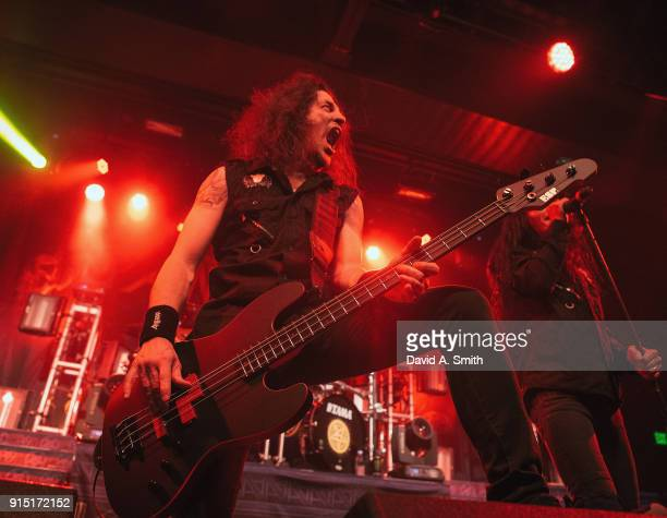 Frank Bello of Anthrax performs at Iron City on February 6 2018 in Birmingham Alabama