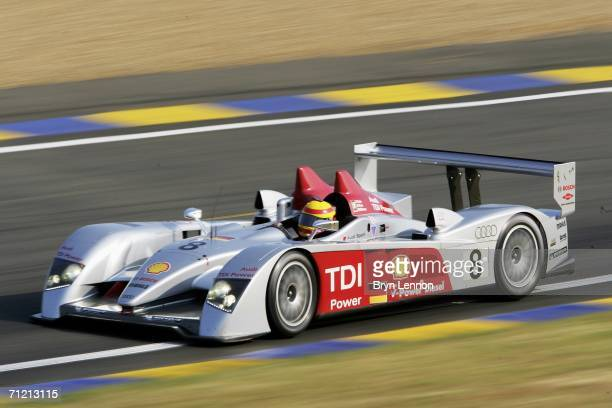 Frank Biela of Germany and Audi on track in the Audi R10 during 2nd qualifying for the Le Mans 24h race on June 15 2006 at the Circuit des 24 Heures...