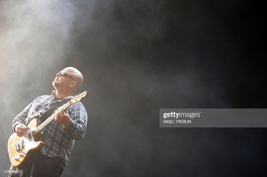 Frank Black, also known as Black Francis, frontman of US band Pixies, performs on stage at the 13th Hurricane Festival in Scheessel, northern Germany, on June 20, 2009. Sixty bands are scheduled to play during the festival, which lasts from June 19 to June 21.