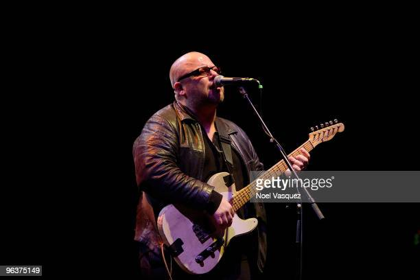 Frank Black of the Pixies performs at the Stand With Haiti benefit concert at The Wiltern on February 2 2010 in Los Angeles California