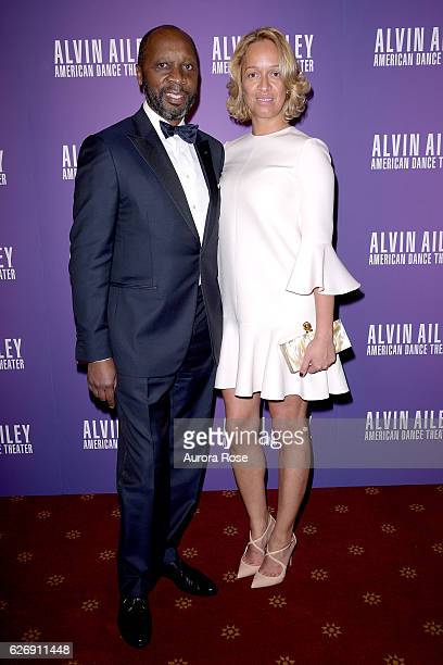 Frank Borges and Louisa Borges attend Alvin Ailey American Dance Theater Opening Night Gala Benefit 'An Evening of Ailey and Jazz' at New York City...