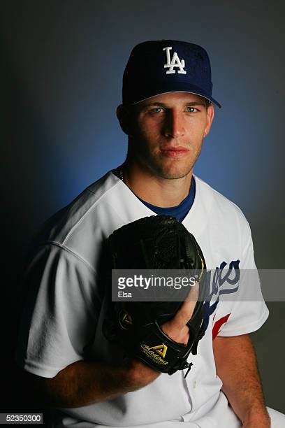 Frank Brooks of the Los Angeles Dodgers poses for a portrait during photo day on February 27, 2005 at Holman Stadium in Vero Beach, Florida.