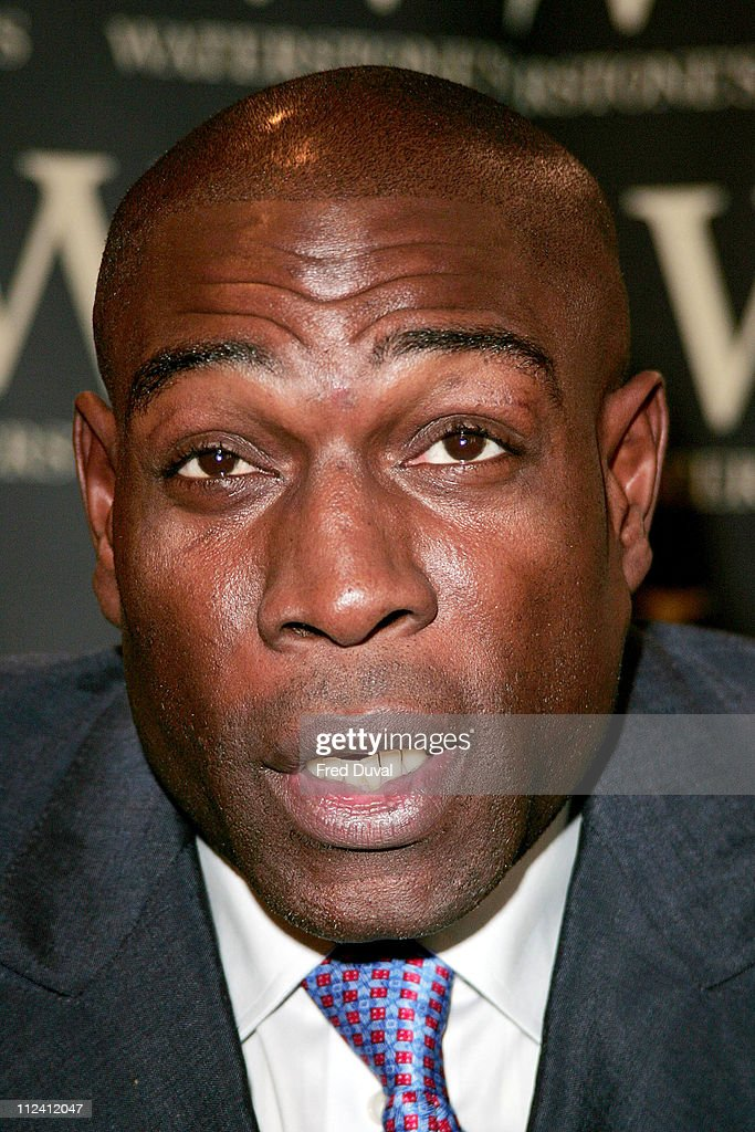 "Frank Bruno Signs His Book ""Fighting Back"" at Waterstone's in London - October"