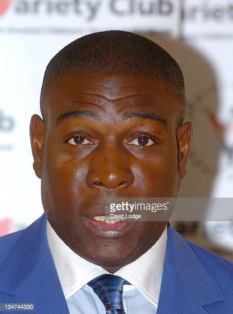Frank Bruno MBE during 23rd Annual Variety Club Sporting Awards at Park Lane Hilton Hotel in London Great Britain