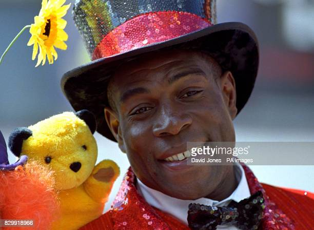 Frank Bruno with 'Sooty' two of the personalities who will be appearing in 'Goldilocks and the Three Bears' at the Hippodrome Theatre Birmingham from...