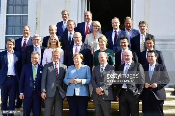Frank Bsirske Chairman of the United Services Union Head of the Federal Chancellery and Federal Minister for Special Tasks Helge Braun Anja Karliczek...