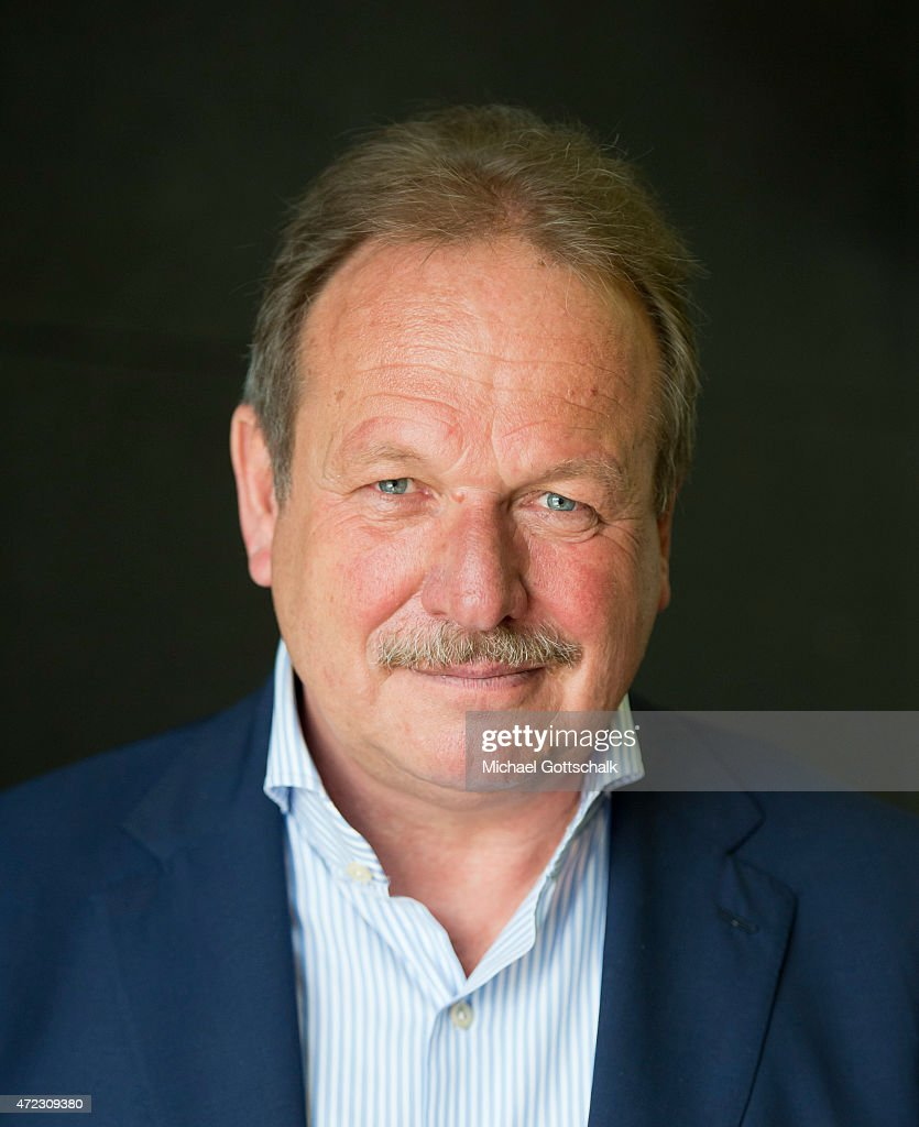 Frank Bsirske, head of german union Verdi poses for a portrait in federal press conference (Bundespressekonferenz) on May 06, 2015 in Berlin, Germany.