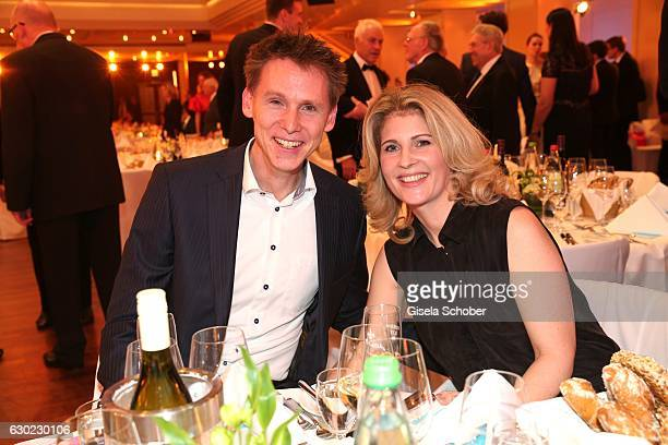 Frank Busemann and his wife Katrin Busemann during the 'Sportler des Jahres 2016' Gala at Kurhaus on December 18 2016 in BadenBaden Germany