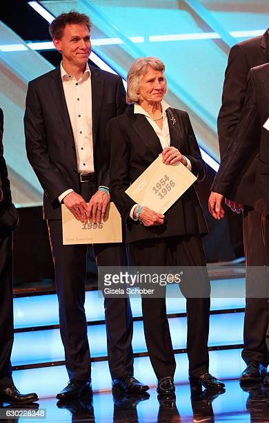 Frank Busemann and Ursula Happe during the 'Sportler des Jahres 2016' Gala at Kurhaus on December 18 2016 in BadenBaden Germany