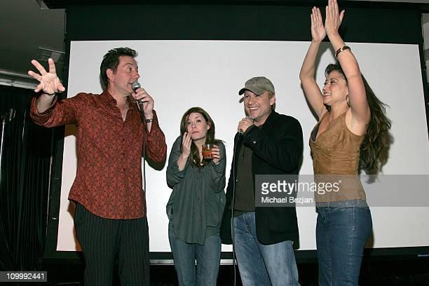 Frank Capello Elisha Cuthbert Christian Slater and Anzu Lawson singing karaoke