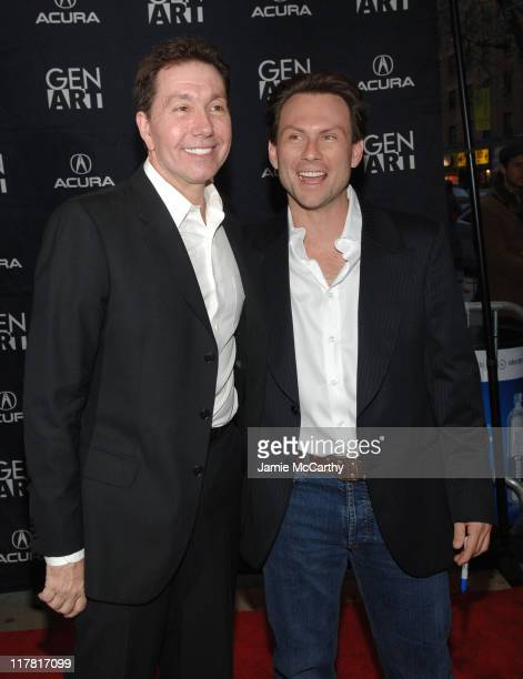 """Frank Cappello, Director and Christian Slater during GenArt Film Festival Closing Night Featuring """"He Was A Quiet Man"""" at Clearview Chelsea West..."""