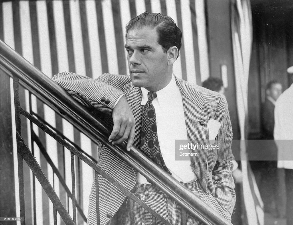 Portrait of Frank Capra on Ship : Foto di attualità