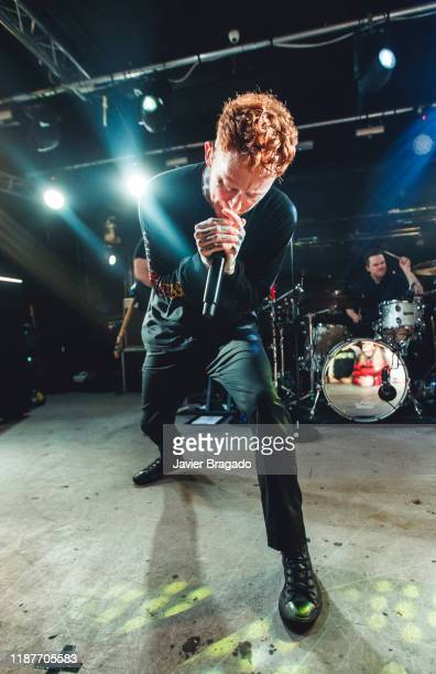 Frank Carter and Gareth Grover from the band 'Frank Carter and The Rattlesnakes' performs on stage at Sala Mon on November 14 2019 in Madrid Spain