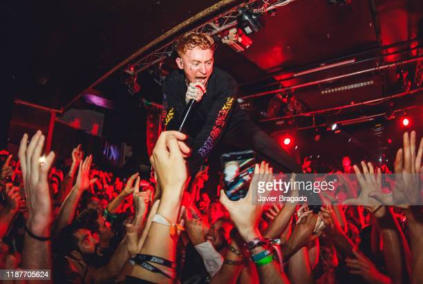 Frank Carter from the band 'Frank Carter and The Rattlesnakes' performs on stage at Sala Mon on November 14 2019 in Madrid Spain