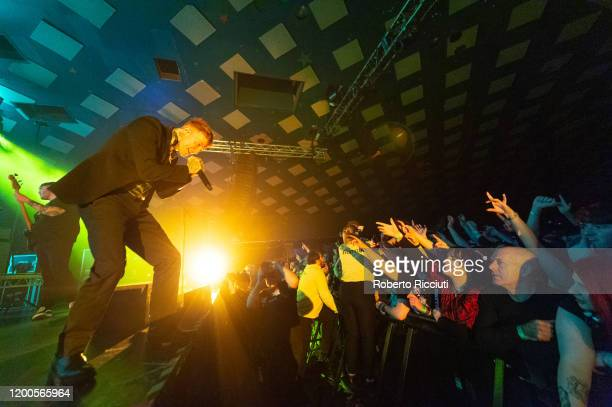Frank Carter of Frank Carter the Rattlesnakes performs on stage at Barrowland Ballroom on February 13 2020 in Glasgow Scotland