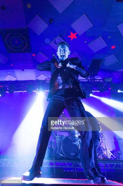 Frank Carter of Frank Carter & the Rattlesnakes performs on stage at Barrowland Ballroom on February 13, 2020 in Glasgow, Scotland.