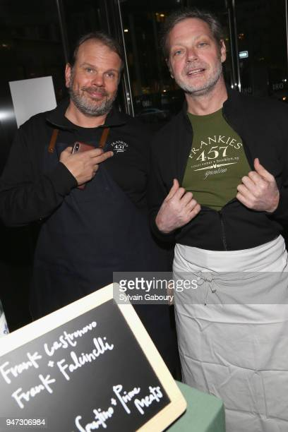 Frank Castronovo and Frank Falcinelli attend Edible Schoolyard NYC 2018 Spring Benefit at 180 Maiden Lane on April 16 2018 in New York City