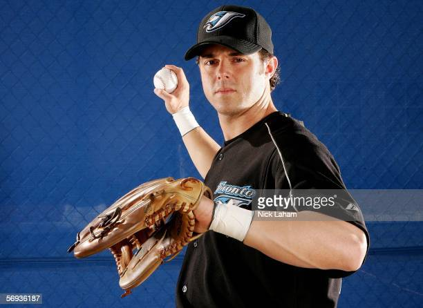 Frank Catalanotto of the Blue Jays poses for a portrait during the Toronto Blue Jays Photo Day on February 25 2006 at the Bobby Mattick Training...