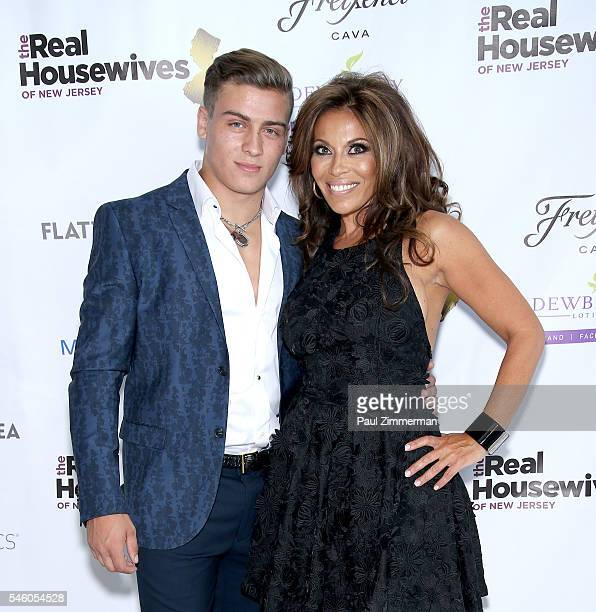 Frank Catania and Dolores Catania attend the Real Housewives Of New Jersey Season 7 Premiere Party at Molos on July 10 2016 in Weehawken New Jersey