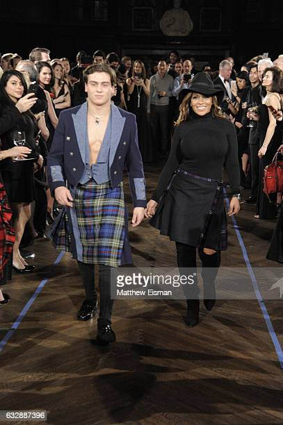 Frank Catania and Dolores Catania walk the runway during Dressed To Kilt Ball Fashion Show presented by Usquaebach Scotch Whisky The High Line Hotel...