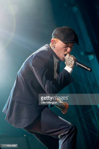 Frank Cater of Frank Carter The Rattlesnakes performs headlining the main stage on day 2 of The Legitimate Peaky Blinders Festival 2019 at the...