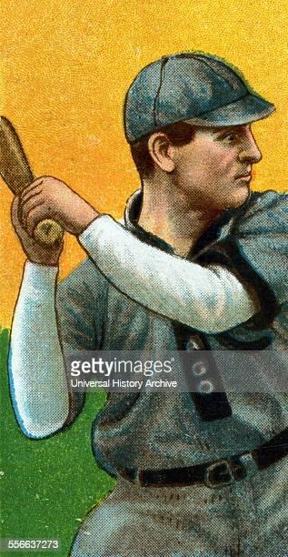Frank Chance Chicago Cubs baseball card portrait Sponsor American Tobacco Company