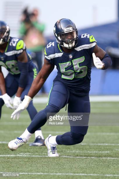 Frank Clark of the Seattle Seahawks in action during the game against the Houston Texans at CenturyLink Field on October 29 2017 in Seattle...