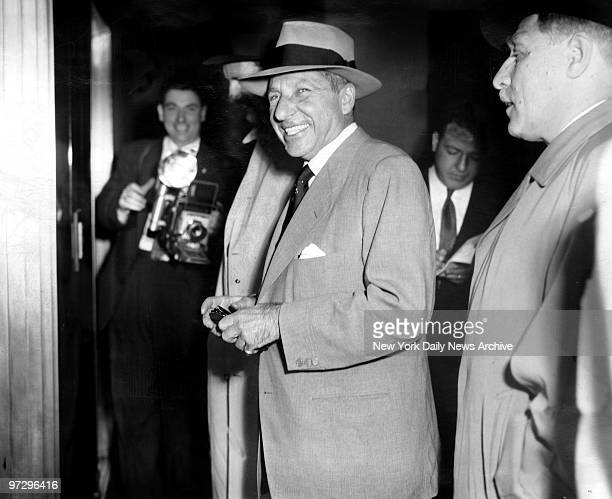 Frank Costello arrives home at his apartment 72nd Street and Central Park West after leaving Rikers Island
