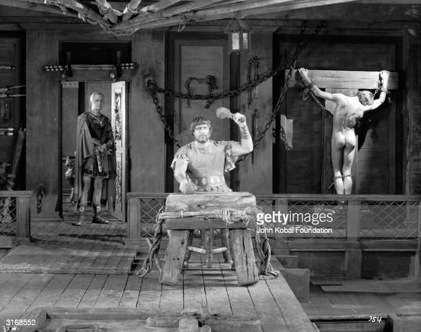 Frank Currier as the Roman general Quintus Arrius in the slave galley scene from the Roman epic 'BenHur' directed by Fred Niblo