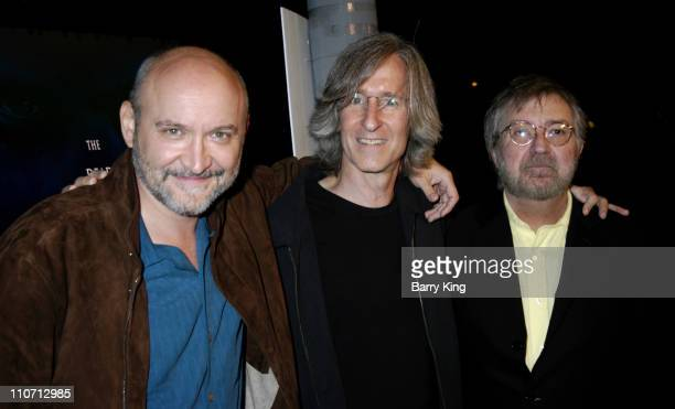 Frank Darabont Mick Garris and Tobe Hooper during 'Stephen King's Riding The Bullet' World Premiere Red Carpet at Westwood Crest Theatre in Westwood...