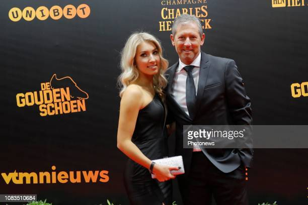 Frank De Bleeckere en dochter Camille pictured during the 65th edition of the Golden Shoe Award Ceremony at the Pop Up theatre on January 16 2019 in...