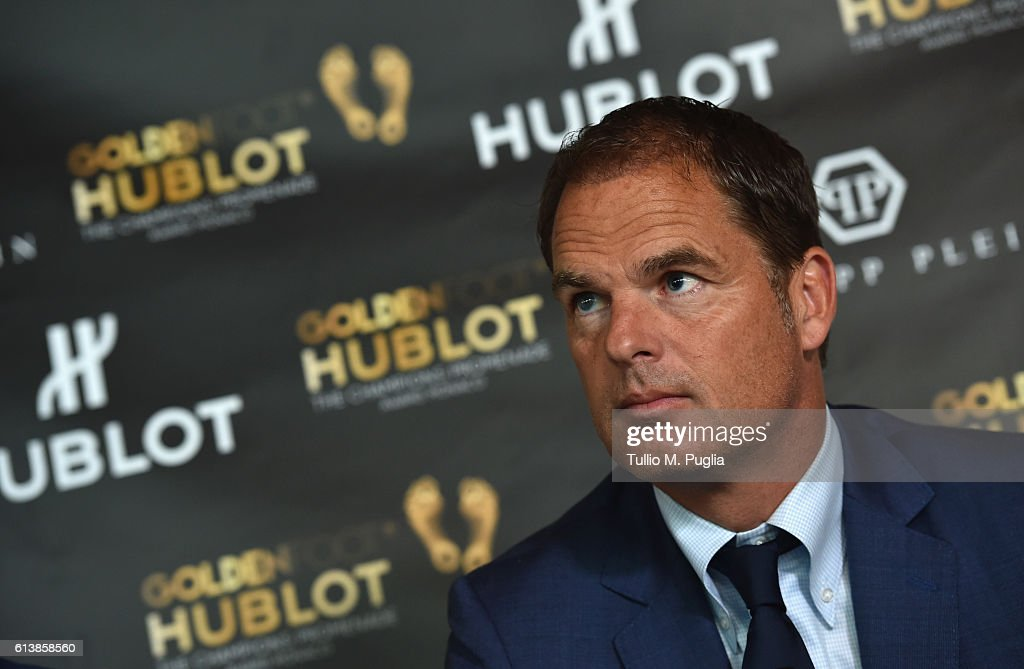 Frank de Boer attends a press conference during the Golden Foot 2016 Award Ceremony on October 11, 2016 in Monaco, Monaco.