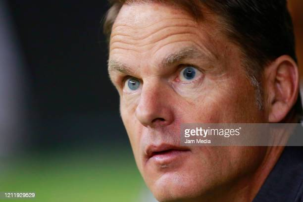 Frank de Boer Head Coach of Atlanta United looks on during a quarter final first leg match between Club America and Atlanta United as part of...