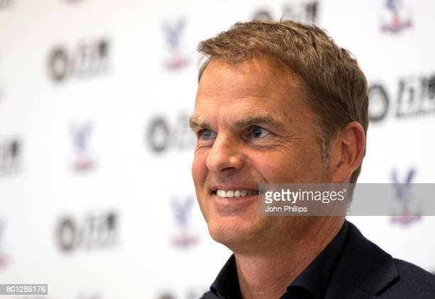 Frank de Boer is announced as the new Crystal Palace manager during a press conference at Beckenham training ground on June 26 2017 in Beckenham...