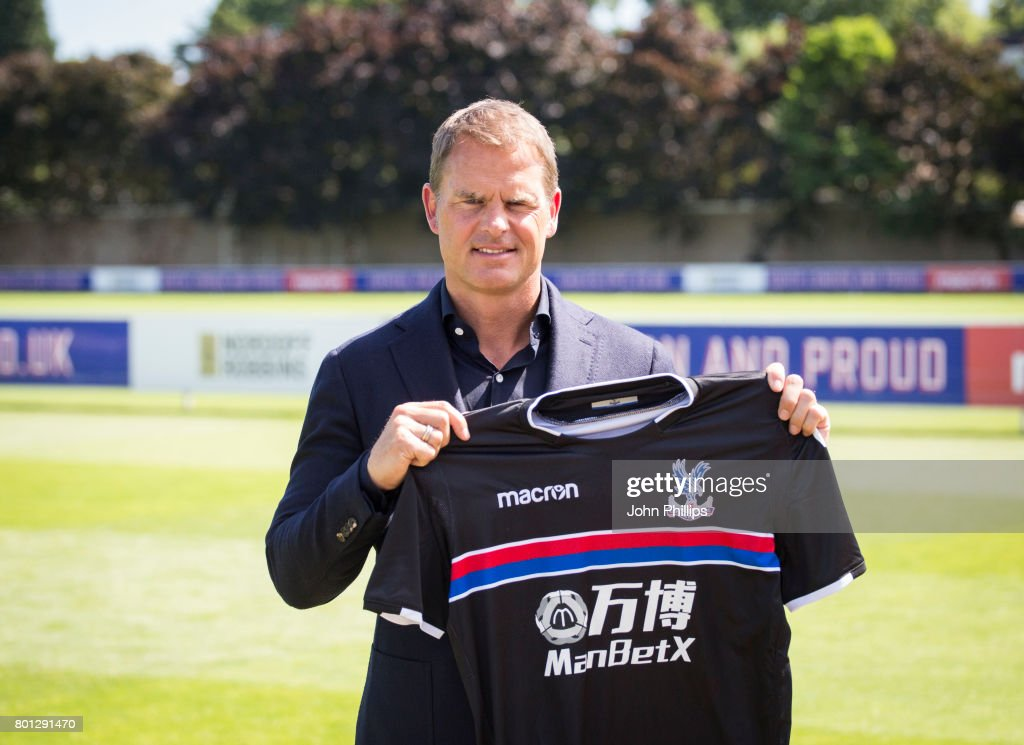 Frank de Boer is announced as the new Crystal Palace manager during a press conference at Beckenham training ground on June 26, 2017 in Beckenham, England.