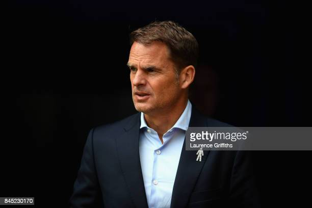 Frank de Boer Manager of Crystal Palace looks on during the Premier League match between Burnley and Crystal Palace at Turf Moor on September 10 2017...