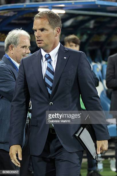 Frank de Boer manager of FC Internazionale during the Serie A match between Empoli FC and FC Internazionale at Stadio Carlo Castellani on September...