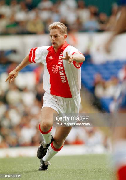 Frank de Boer of Ajax in action during the Makita Tournament match between Chelsea and Ajax at White Hart Lane on July 31 1993 in London England