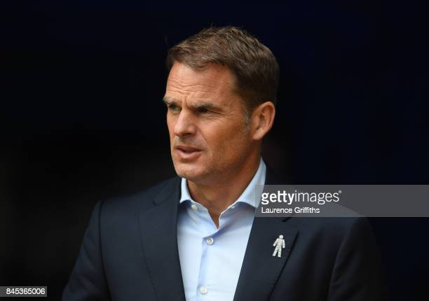 Frank De Boer of Crystal Palace looks on during the Premier League match between Burnley and Crystal Palace at Turf Moor on September 10 2017 in...