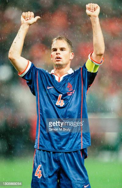 Frank De Boer of Holland waves to the crowd after the World Cup 1st round match between holland and Belgium at the state de France on June 13, 1998...