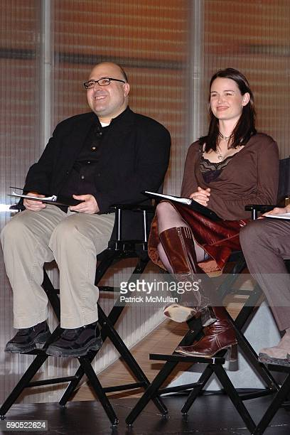 Frank DeCaro and Sprague Grayden attend Fondazione Prada and Drama Dept present a special reading at Prada in SoHo on January 24 2005 in New York City