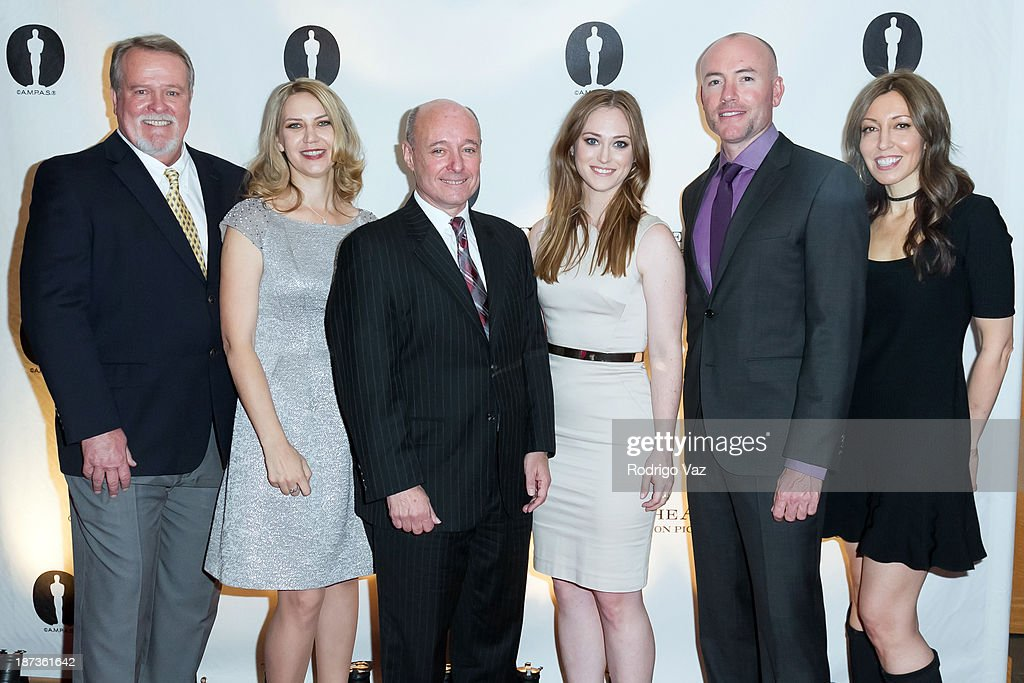 Frank DeJohn, Barbara Stepansky, Alan Roth, Stephanie Shannon, David Alton Hedges and Patty Jones attend the 2013 Academy Nicholl Fellowships In Screenwriting Awards hosted by AMPAS at AMPAS Samuel Goldwyn Theater on November 7, 2013 in Beverly Hills, California.