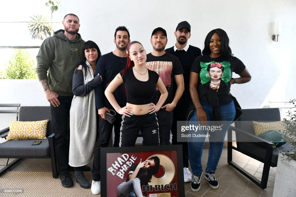 Bhad Bhabie Receives Gold Record For Her Song 'Hi Bich' : News Photo