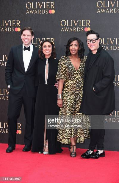 Frank Dilella Anita Rani Angellica Bell and Gok Wan attends The Olivier Awards 2019 with MasterCard at the Royal Albert Hall on April 07 2019 in...