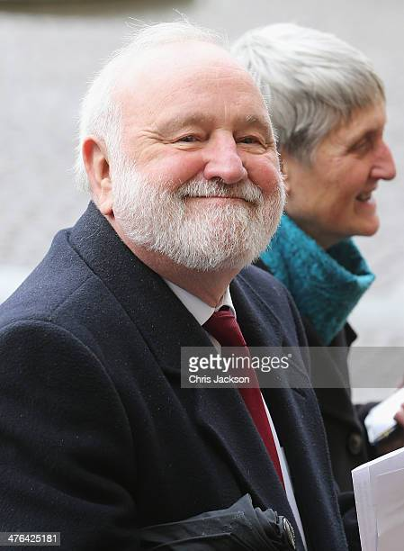 Frank Dobson arrives for a National Service of Thanksgiving to celebrate the life of Nelson Mandela at Westminster Abbey on March 3 2014 in London...