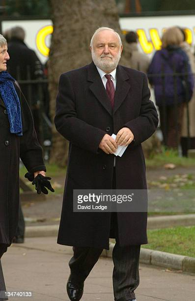 Frank Dobson during Robin Cook Memorial Service at St Margarets Church Westminster in London Great Britain