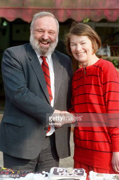 Frank Dobson with Labour candidate and actress Glenda Jackson 31st March 1990