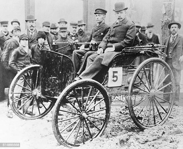 J Frank Duryea wins one of the first American automobiles races from Chicago to Evanston Illinois in the car he cocreated
