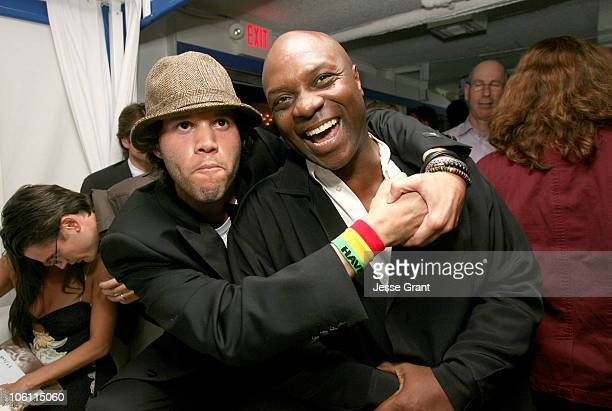 """Frank E. Flowers, director and Robert Wisdom during """"Haven"""" Los Angeles Premiere - After Party in Los Angeles, California, United States."""