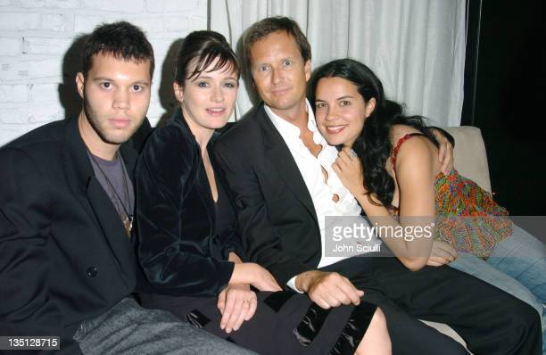 Frank E Flowers director Emily Mortimer guest and Zuleikha Robinson at the Motorola Late Night Lounge at the Toronto Film Festival